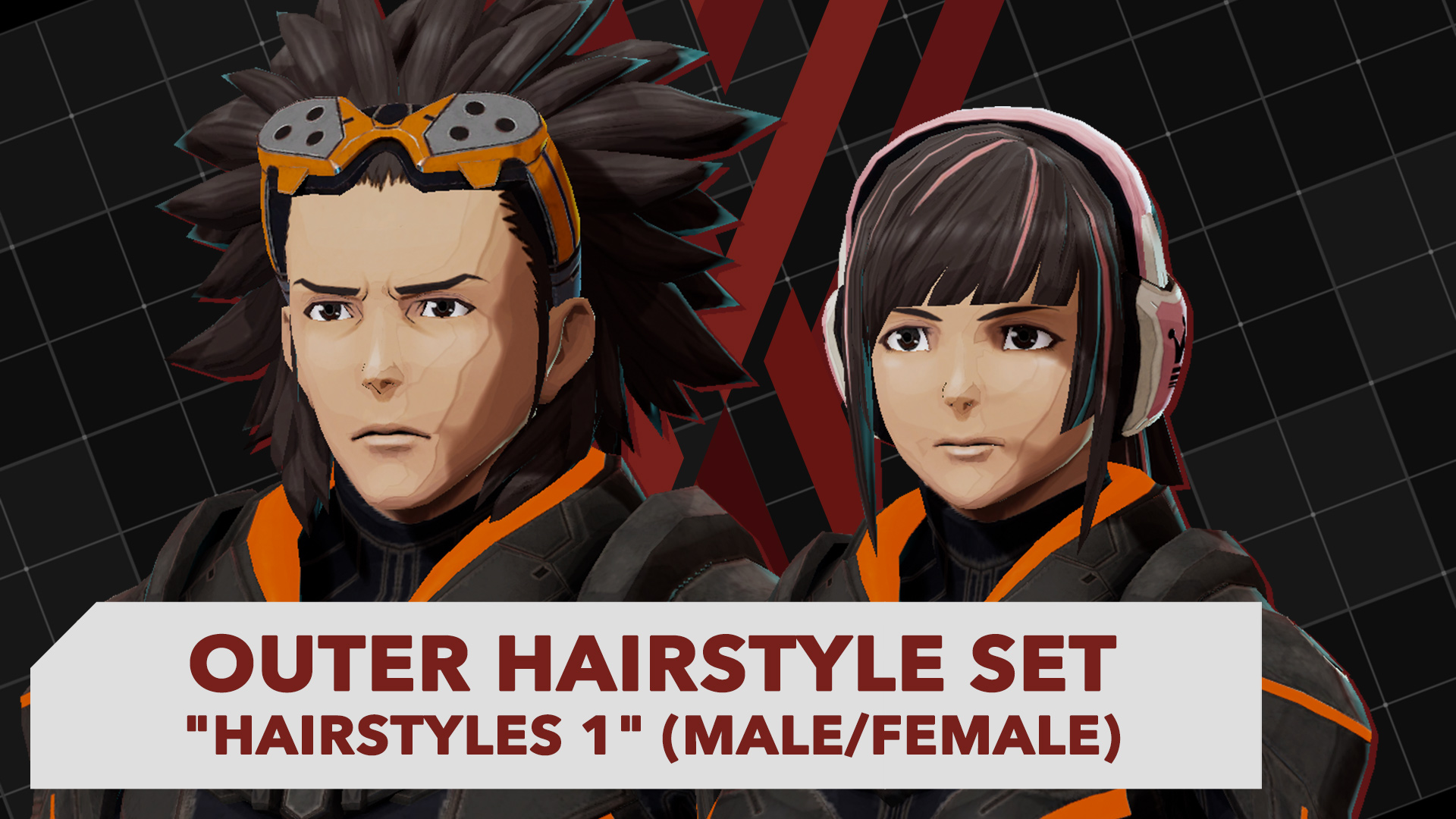 Sensational Outer Hairstyle Set Hairstyles 1 Male Female Daemon X Machina Natural Hairstyles Runnerswayorg