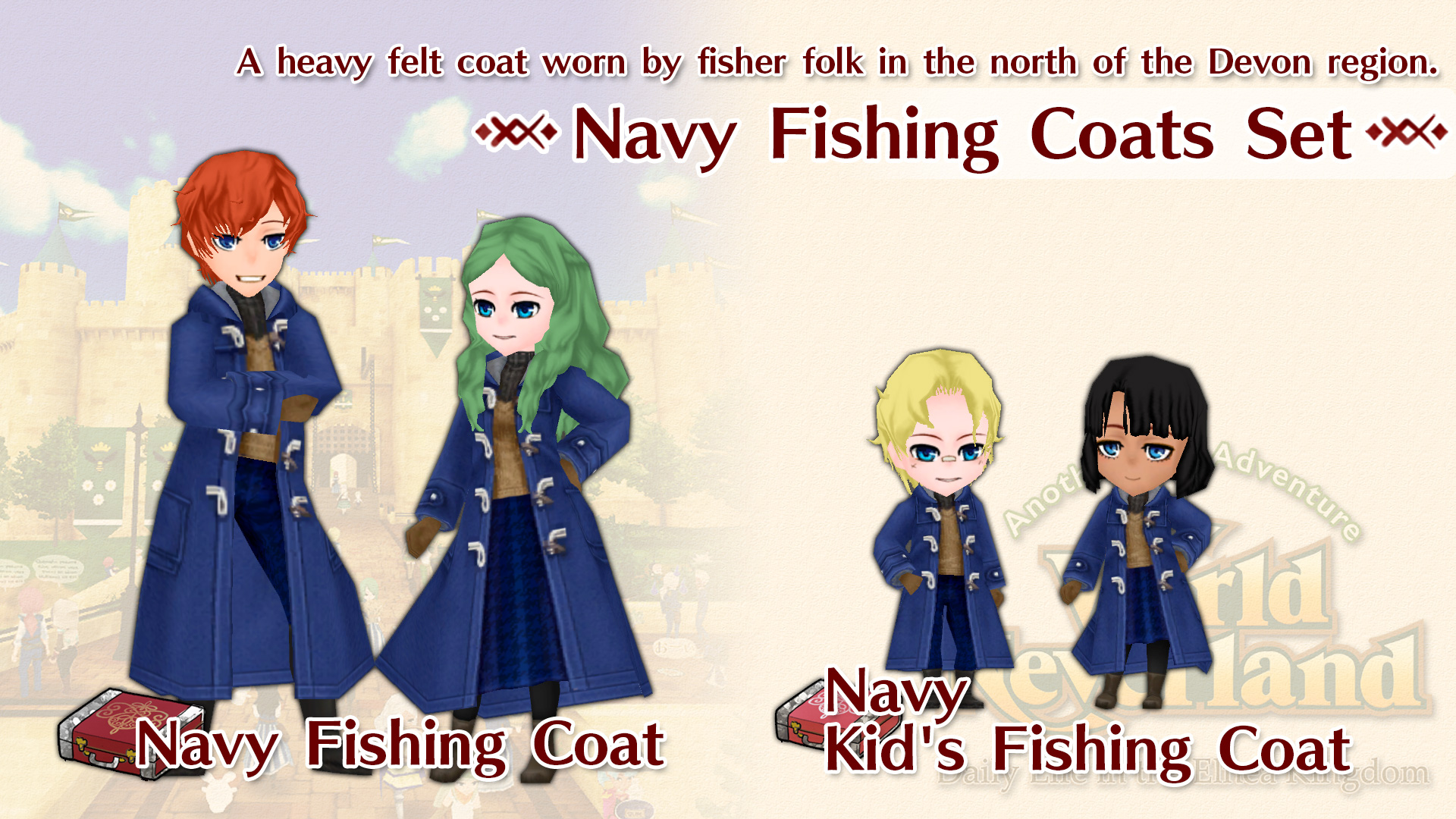 Navy Fishing Coats Set