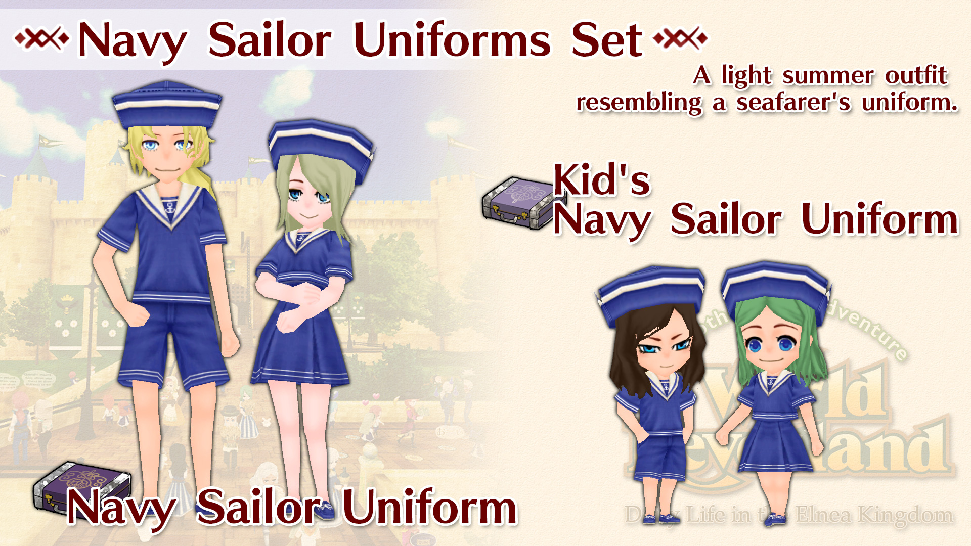 Navy Sailor Uniforms Set
