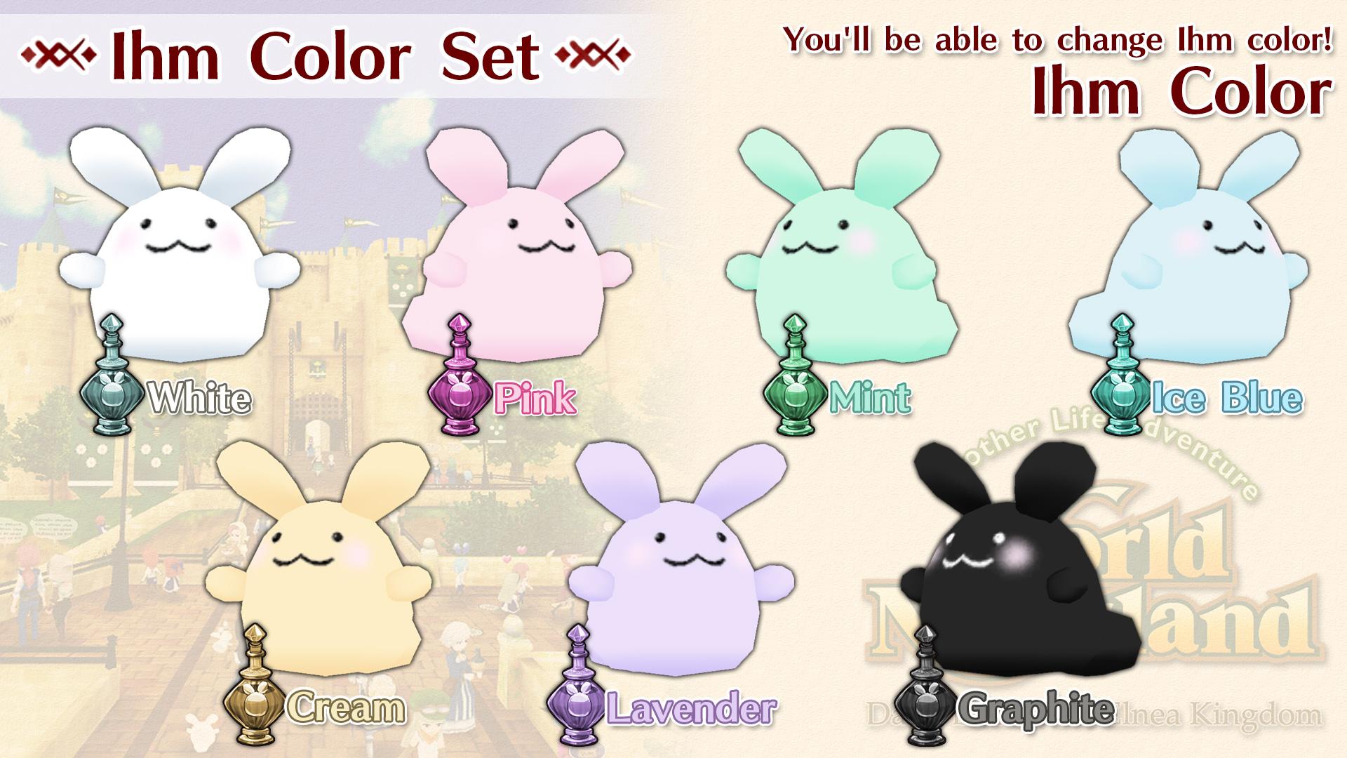 Ihm Color Set (White, Pink, Mint, Ice Blue, Cream, Lavender, Graphite)