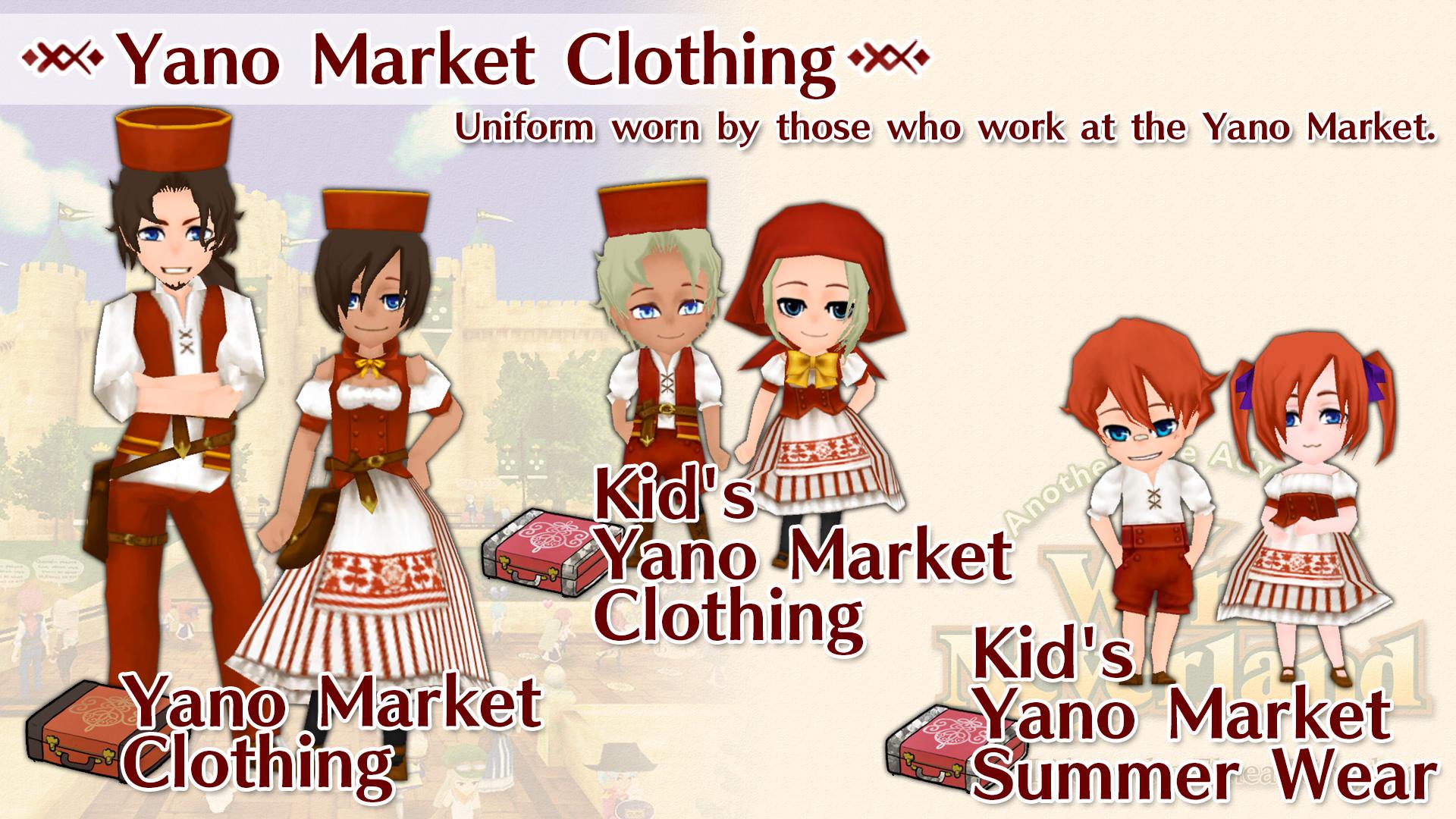 Yano Market Clothing Set
