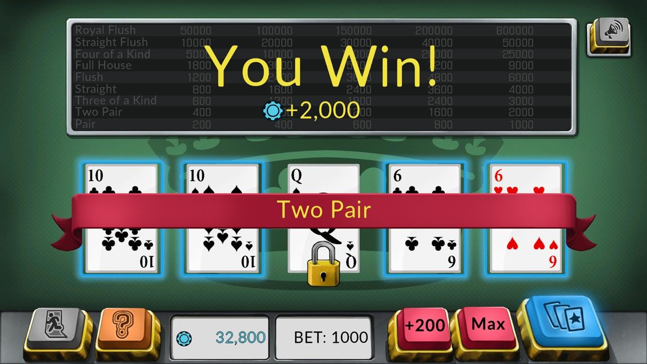 Four Kings: Video Poker