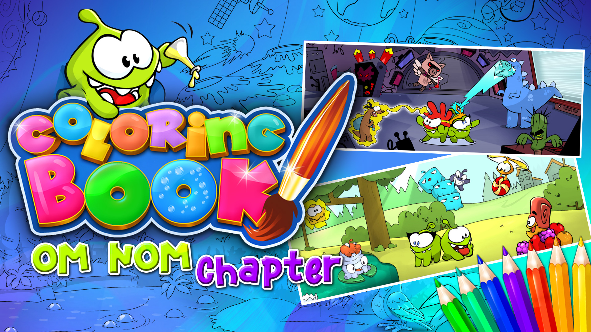 Om Nom Chapter 13 New Drawings Labo Nommies Supernom Coloring Book Nintendo Switch Nintendo