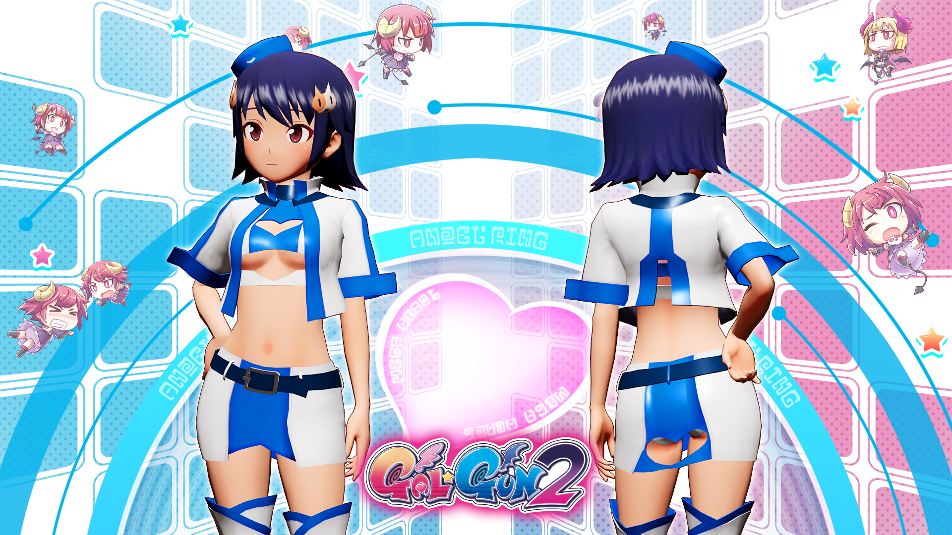 Gal*Gun 2 - Pole Position Pin-up Set