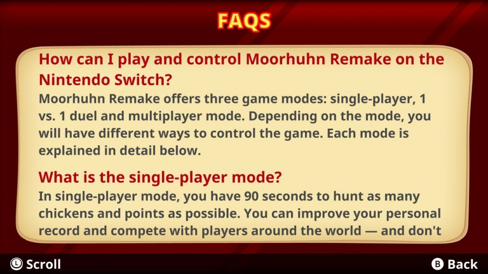 Moorhuhn Remake/Nintendo Switch/eShop Download