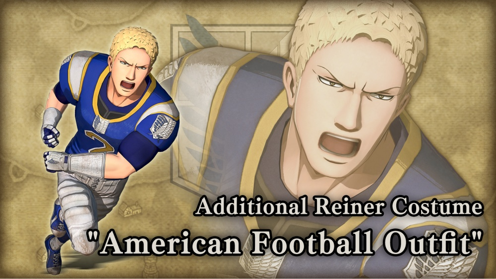 Additional Reiner Costume American Football Outfit A O T